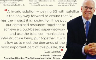 Pair 5G with satellite to promote IoT the way to go